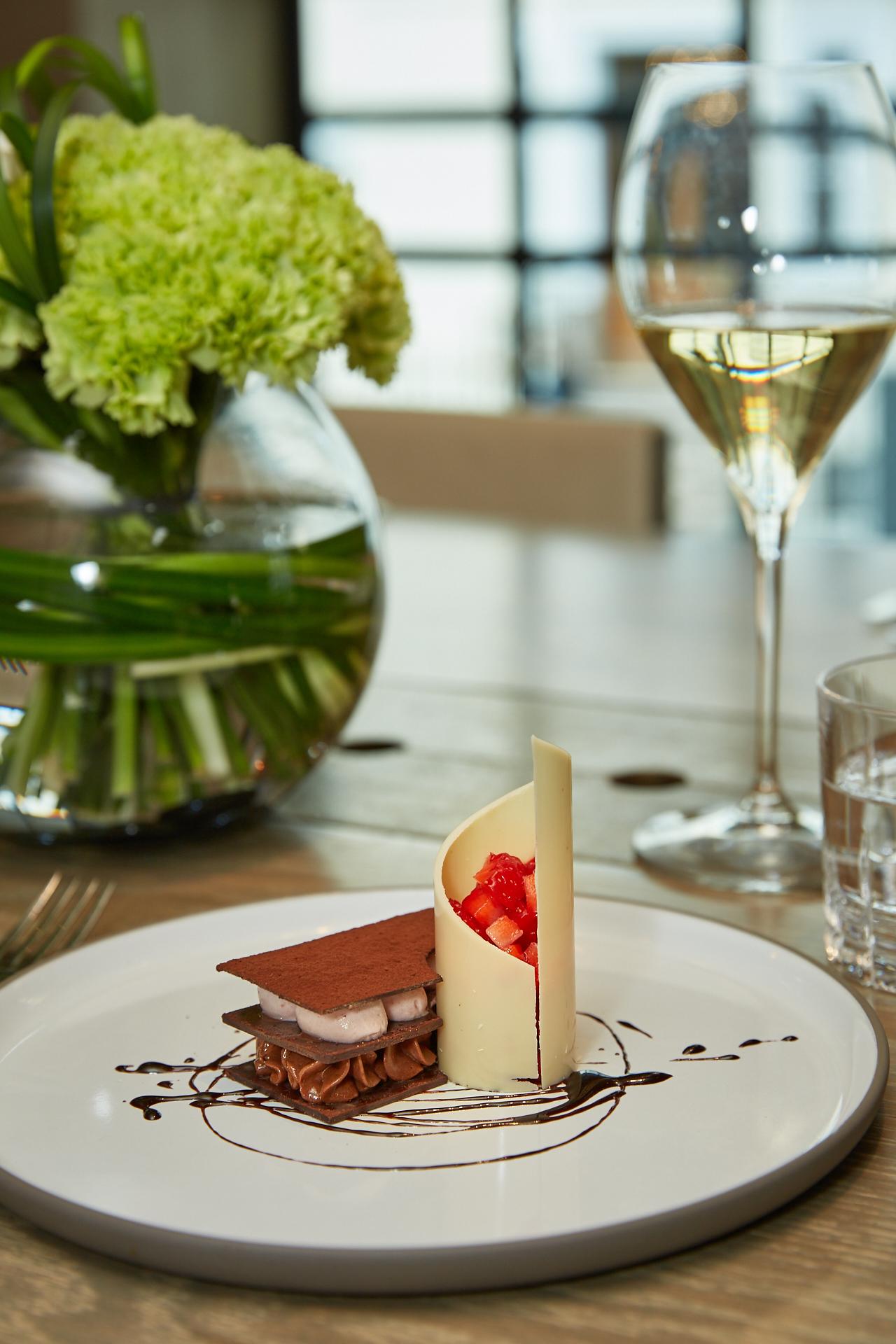 Hari dessert and wine