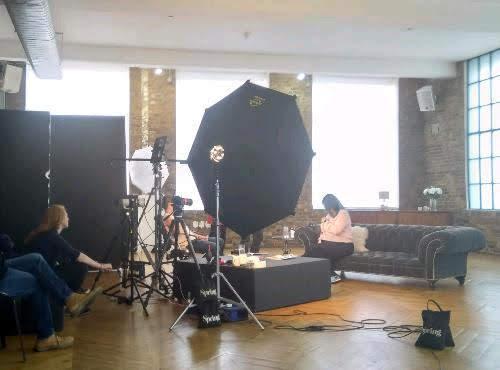 Studio shoot bts