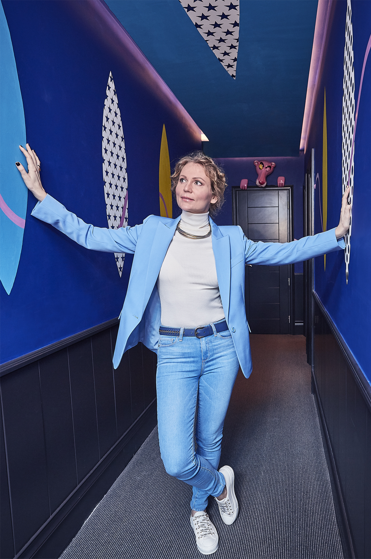 Artist Olga Lomaka at the Exhibitionist