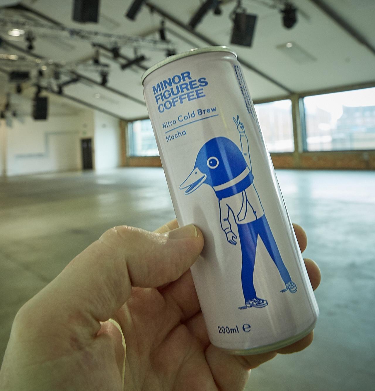 Nitro coffee in a can